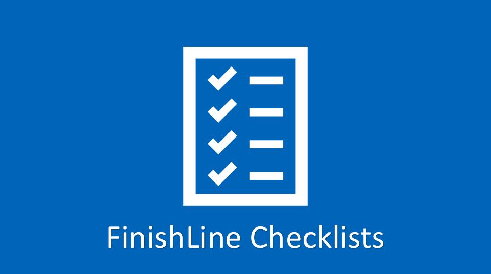 finishline checklists