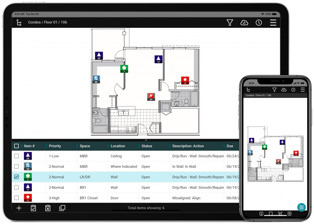 punch list app for tablets and smartphones