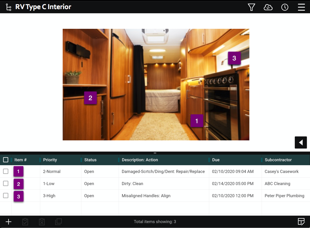 rv punch list